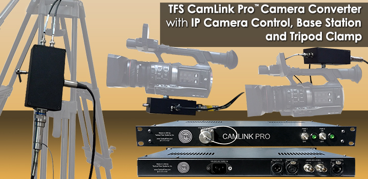 CamLink Pro™ Camera Converter & Base Station - Sends HD/SD-SDI Video with ClearCom Connection and IP Based Data Connection for Camera Control - Self Powered