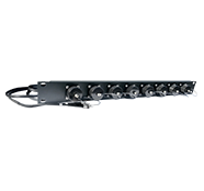 8 Port BullsEye™ Patch Panel with 8 BullsEye™ Duo Chassis Connectors & Patch Cables with ST Breakouts