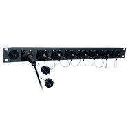 8 Port BullsEye™ Patch Panel with 8 BullsEye™ Duo Chassis Connectors