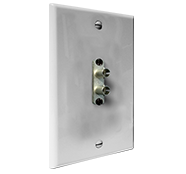 Standard Wall Plate with Duplex ST Connector