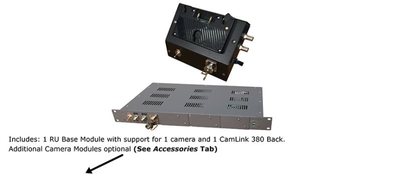 CamLink 3G Bi-Directional SDI Video Only FiberBack & Base Unit Package